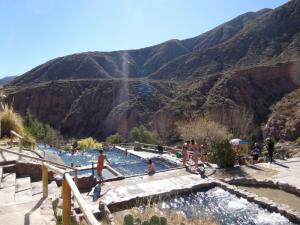122 0398 Argentina - Mendoza - Hostel International -  Mi 2.Agosto Termes Cacheuta