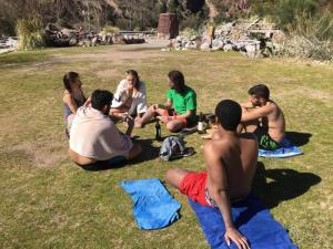 122 0407 Argentina - Mendoza - Hostel International -  Mi 2.Agosto Termes Cacheuta